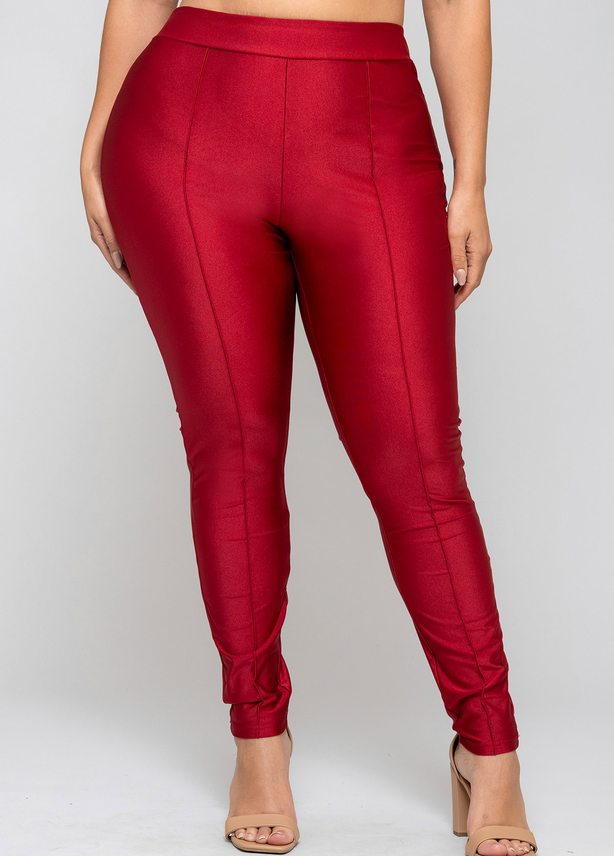 Plus Size Solid High Waisted Legging