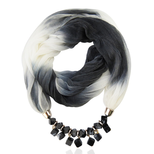 Ink Painting Chiffon Scarf for Women