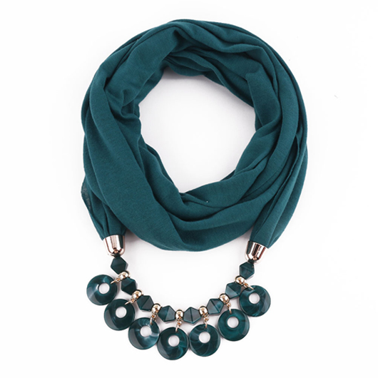 Solid Acrylic Chain Design Scarf for Women