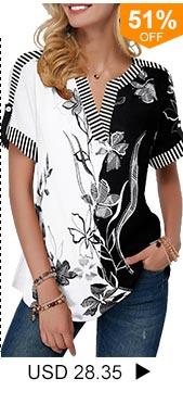 Split Neck Roll Tab Sleeve Flower Print Blouse