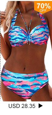 Dazzle Color Tie Back Bikini Set