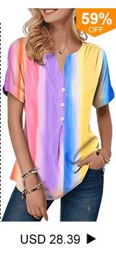 Split Neck Tie Dye Print Button Detail T Shirt