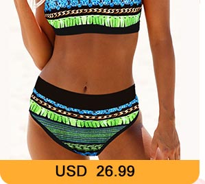 Tie Back Printed High Waist Bikini Set