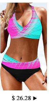 Printed Lace Up Wide Strap Bikini Set